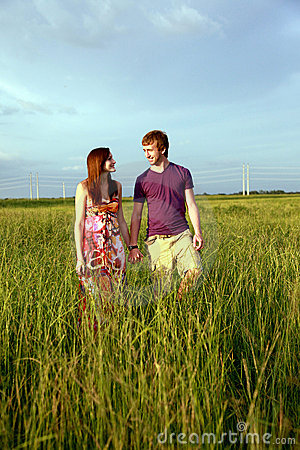Free Teenage Couple Holding Hands Stock Image - 10849361