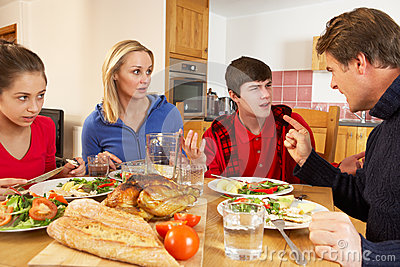 Teenage Family Having Argument