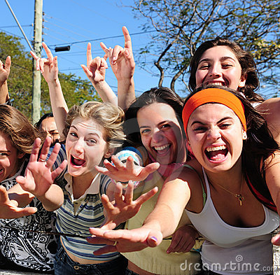Free Teenage Fans Screaming Royalty Free Stock Photo - 10270805