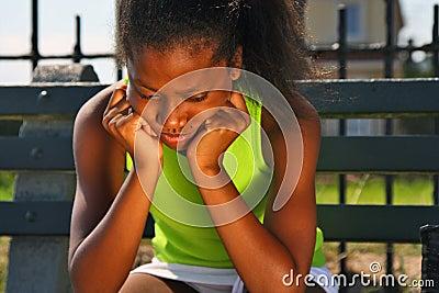 Teenage female tennis player