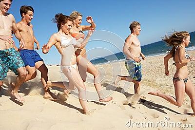 Teenage Friends Enjoying Beach Holiday