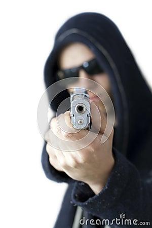 Teenage gang member