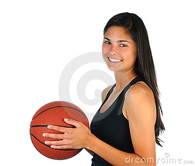 Teenage Girl with Basketball