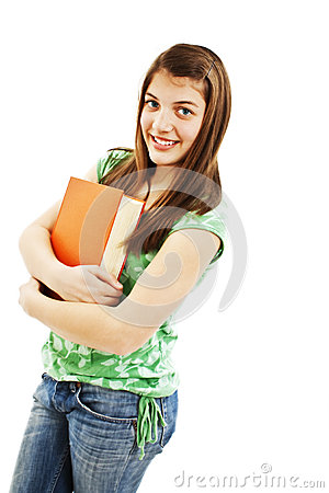 Teenage girl with a book