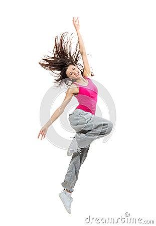 teenage girl dancer dancing