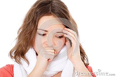 Teenage girl feels unwell