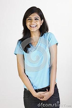 Free Teenage Girl In Blue T-shirt Stock Photo - 9569110