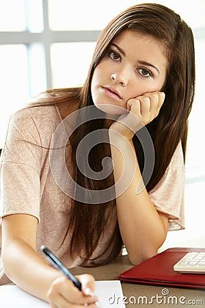 Free Teenage Girl In Class Stock Image - 54953041