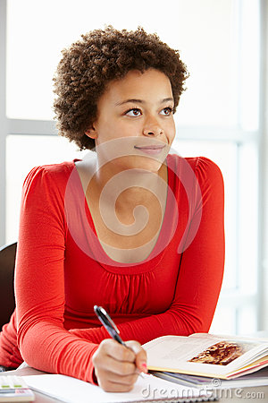 Free Teenage Girl In Class Stock Images - 55892654