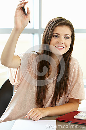 Free Teenage Girl In Class Royalty Free Stock Image - 55892836