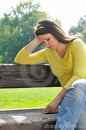 Free Teenage Girl In Depression Outdoors Stock Photo - 14346300