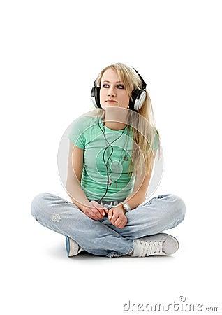 Free Teenage Girl In Headphones Royalty Free Stock Images - 2010339