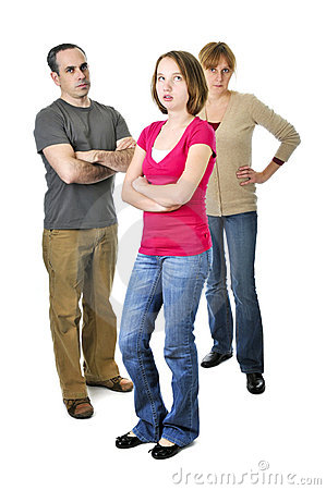 Free Teenage Girl In Trouble With Parents Stock Photography - 7845022