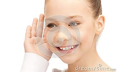 Teenage girl listening gossip