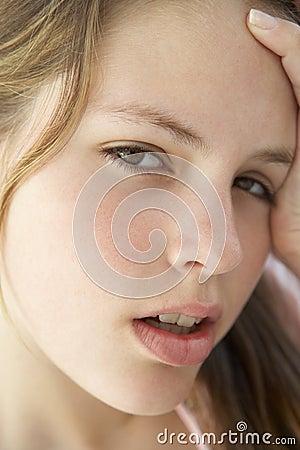 Teenage Girl Looking Frustrated