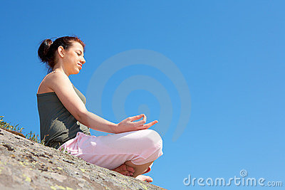 Teenage Girl Meditating