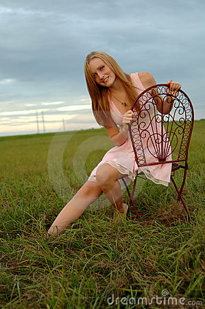 Teenage girl in nature