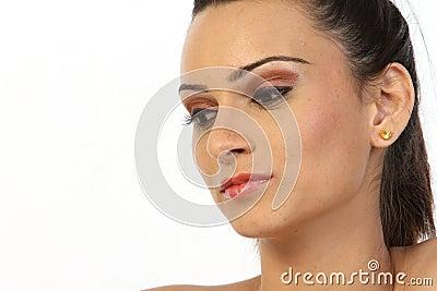 Teenage girl with nice make-up