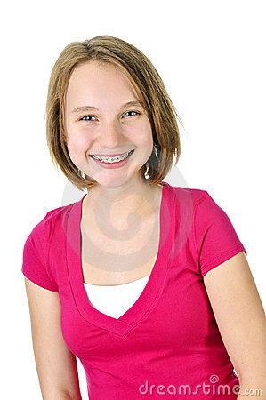 Free Teenage Girl Smiling With Braces Stock Photo - 7811010
