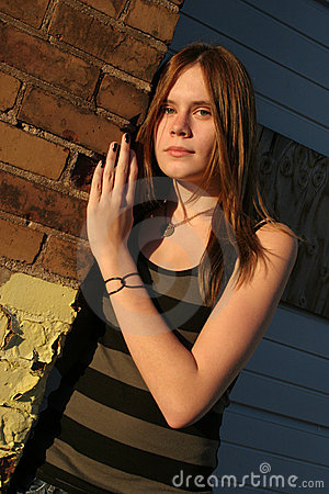 Teenage Girl in Urban Setting