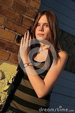 Teenage Girl in Urban Setting