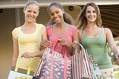 Teenage Girls Out Shopping