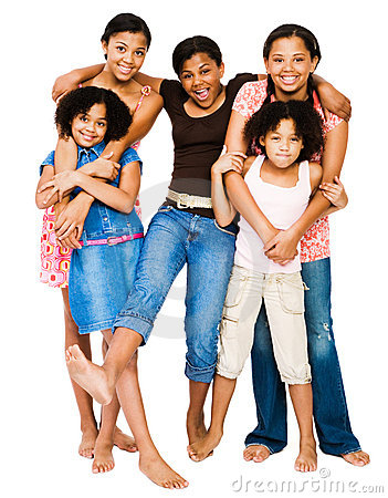 Teenage girls standing with girls