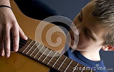Teenage guitar player