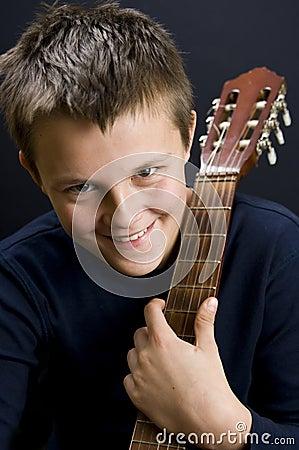 Free Teenage Guitar Player Stock Photos - 11707763