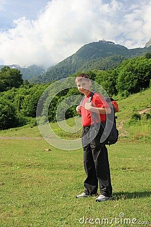 Teenage hiker