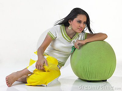 Teenage indian girl in a relaxed mood