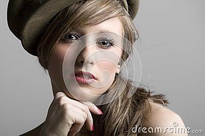 Teenage Model in Hat