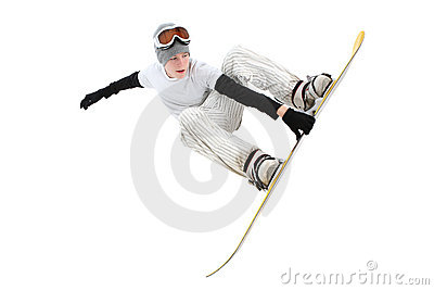 Teenage snowboarder