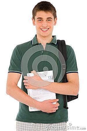 Teenage student