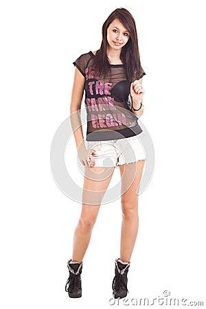 Teenage wearing shorts