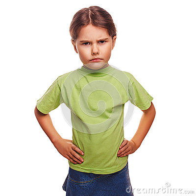 Free Teenager Angry Evil Girl Shows Fists Experiencing Stock Images - 37124334