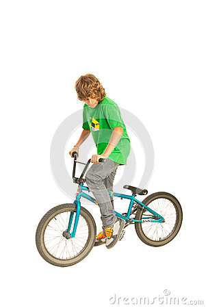 Teenager on the bike