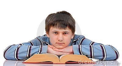 Teenager and Book