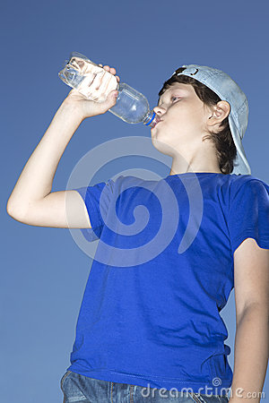 Teenager with bottle