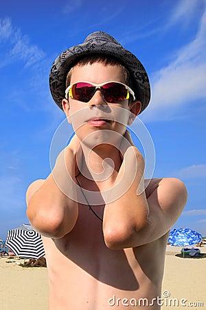 Teenager Boy on the Beach