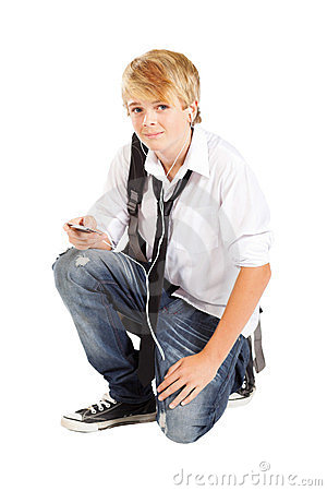 Teenager boy with cell phone
