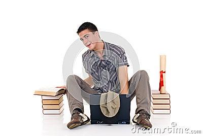 Teenager boy student