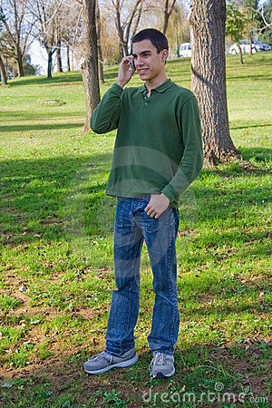 Teenager on the cell phone