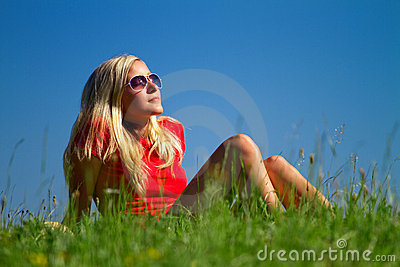 Teenager in countryside