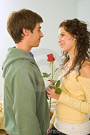 Teenager couple romance