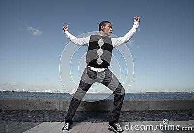 Teenager dancing