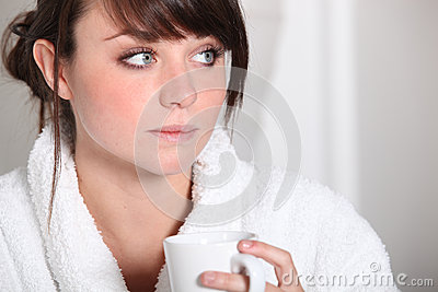 Teenager drinking