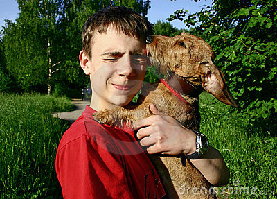 Teenager e cane