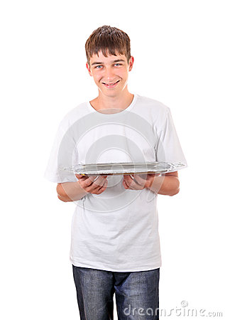 Teenager with Empty Salver