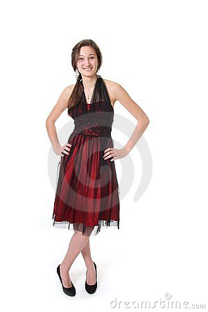Teenager with evening dress